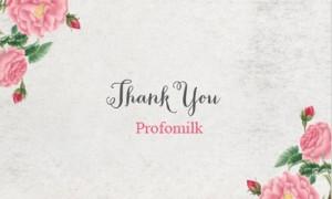 Thư cảm ơn của Công ty CP Profomilk tới quý chủ shop, nhà phân phối