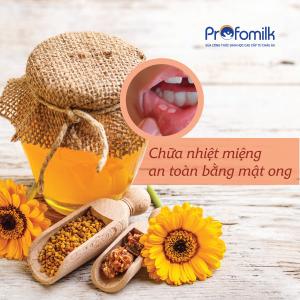 Mật ong là chất kháng sinh tự nhiên có khả năng tiêu diệt vi khuẩn gây nhiệt miệng